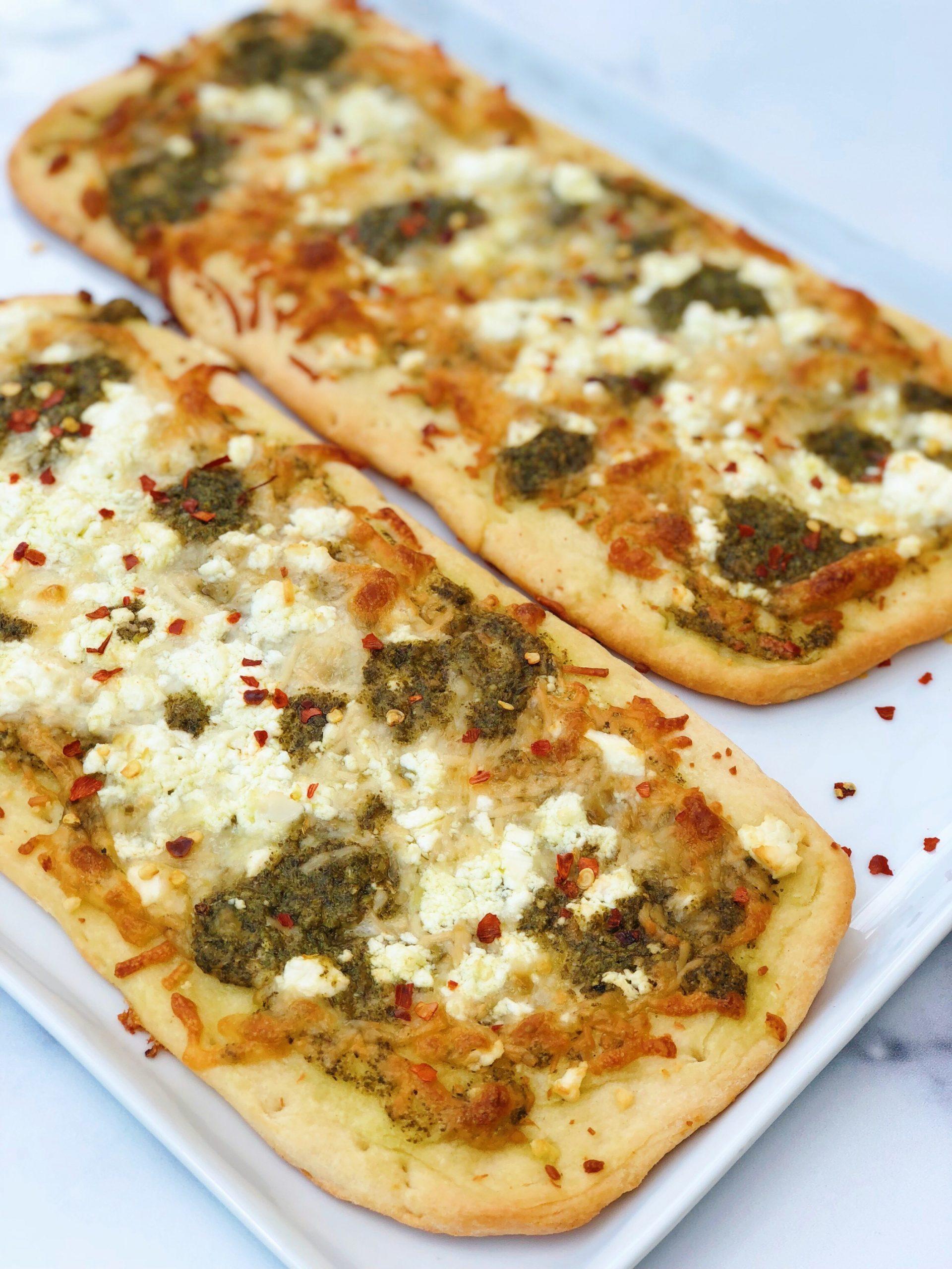 Pesto Feta Flatbread