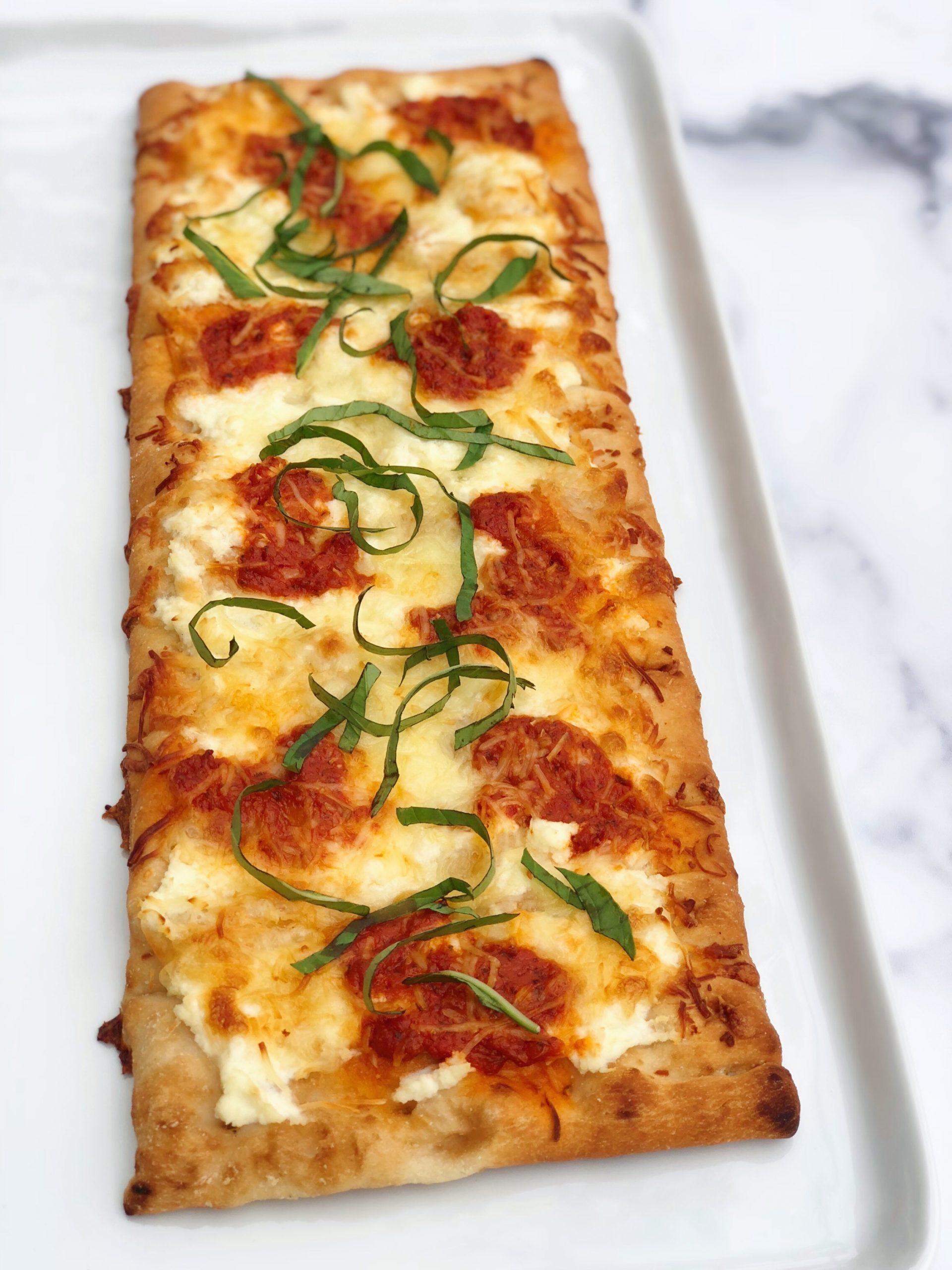 Three Cheese and Chili Pesto Pizza